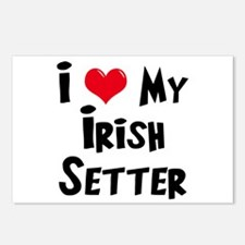 I Love My Irish Setter Postcards (Package of 8)