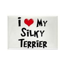 I Love My Silky Terrier Rectangle Magnet (100 pack