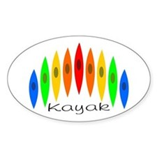 Rainbow of Kayaks Decal