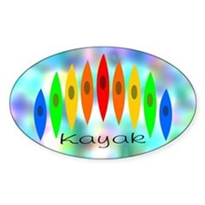 Rainbow of Kayaks BG Decal