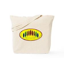 Neon Kayak Rainbow Tote Bag