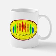 Kayak Rainbow (Yellow) Mug