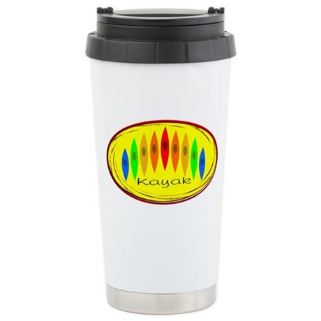 Kayak Rainbow (Yellow) Stainless Steel Travel Mug