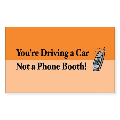 Not a Phone Booth Rectangle Sticker