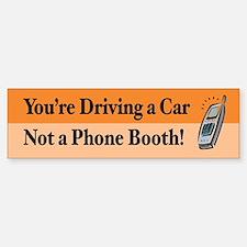 Not a Phone Booth Bumper Car Car Sticker