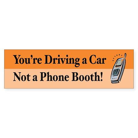Not a Phone Booth Bumper Sticker