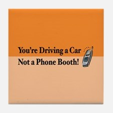 Not a Phone Booth Tile Coaster
