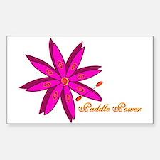 Kayak Paddle Power (Pink) Sticker (Rectangle)