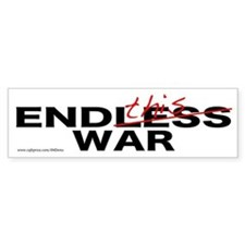 """End This War"" Bumper Bumper Sticker"