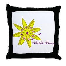 Kayak Paddle Power (Yellow) Throw Pillow