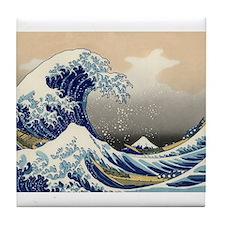 Kanagawa The Great Wave Tile Coaster