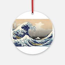 Kanagawa The Great Wave Ornament (Round)