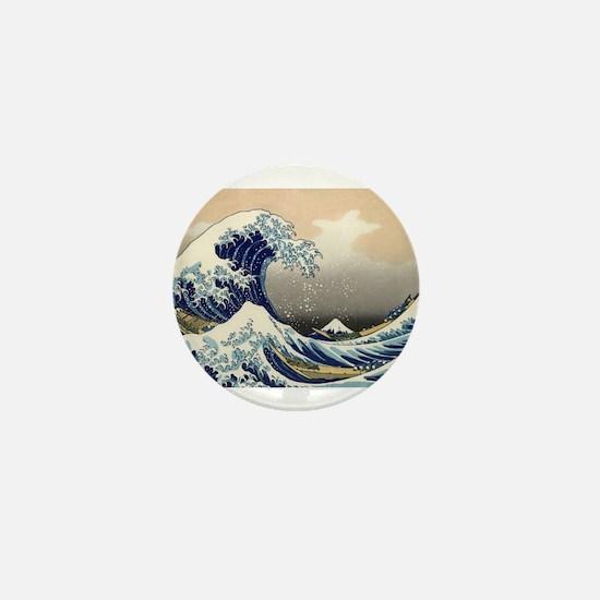 Kanagawa The Great Wave Mini Button
