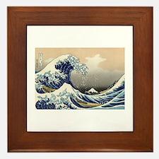 Kanagawa The Great Wave Framed Tile
