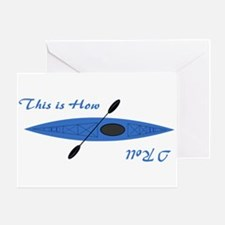 This is How I Roll (Blue) Greeting Card