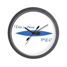 This is How I Roll (Blue) Wall Clock