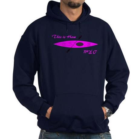 This is How I Roll (Pink) Hoodie (dark)