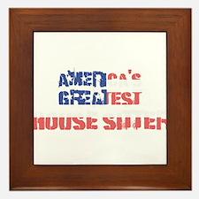 America's Greatest House Sitter Framed Tile