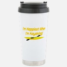 I'm Happiest When Stainless Steel Travel Mug