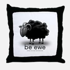 be ewe Throw Pillow