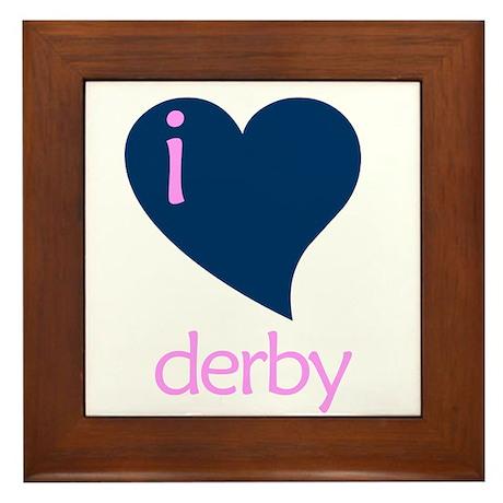 I heart derby Framed Tile
