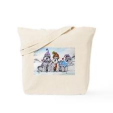 Schnauzer Winter Holiday Tote Bag