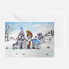 Schnauzer Winter Holiday Greeting Card