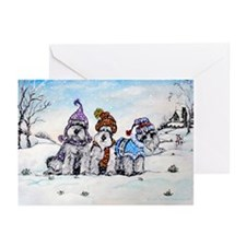 Schnauzer Winter Holiday Greeting Cards (Pk of 10)