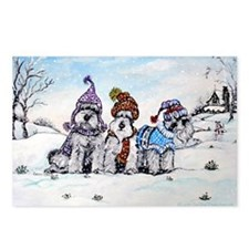 Schnauzer Winter Holiday Postcards (Package of 8)