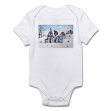 Schnauzer Winter Holiday Infant Bodysuit