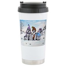 Schnauzer Winter Holiday Travel Mug