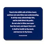 Prov 3:5-8 Mousepad Aec