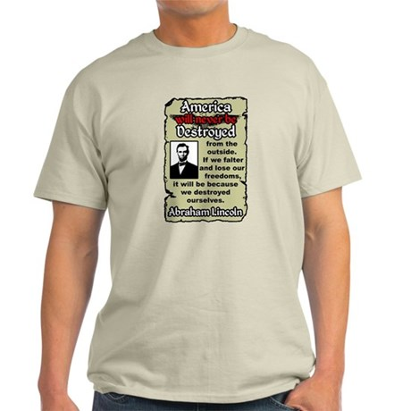 """""""Lincoln: If We Falter"""" Color T-Shirt"""