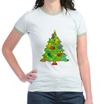 French Horn Christmas Jr. Ringer T-Shirt