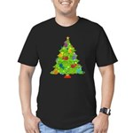 French Horn Christmas Men's Fitted T-Shirt (dark)
