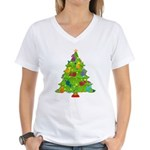 French Horn Christmas Women's V-Neck T-Shirt