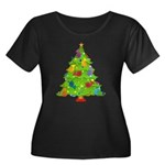 French Horn Christmas Women's Plus Size Scoop Neck