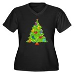 French Horn Christmas Women's Plus Size V-Neck Dar
