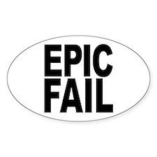 Epic Fail Sticker (Oval)