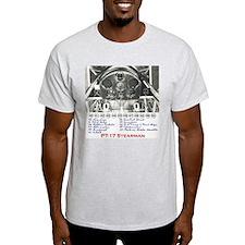 PT-17 Stearman Panel Ash Grey T-Shirt