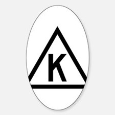 Triangle K Sticker (Oval)