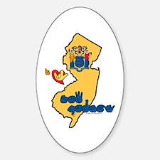 ILY New Jersey Sticker (Oval)