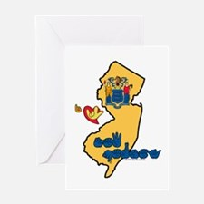 ILY New Jersey Greeting Card
