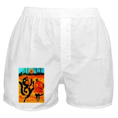 Banjo Cat Crepe Boxer Shorts