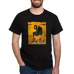 Witch On Pumpkin Dark T-Shirt
