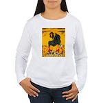 Witch On Pumpkin Women's Long Sleeve T-Shirt