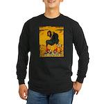 Witch On Pumpkin Long Sleeve Dark T-Shirt