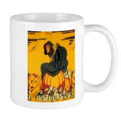 Witch On Pumpkin Mug