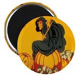 Witch On Pumpkin 2.25