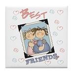 Best Friends Keepsake Tile Coaster